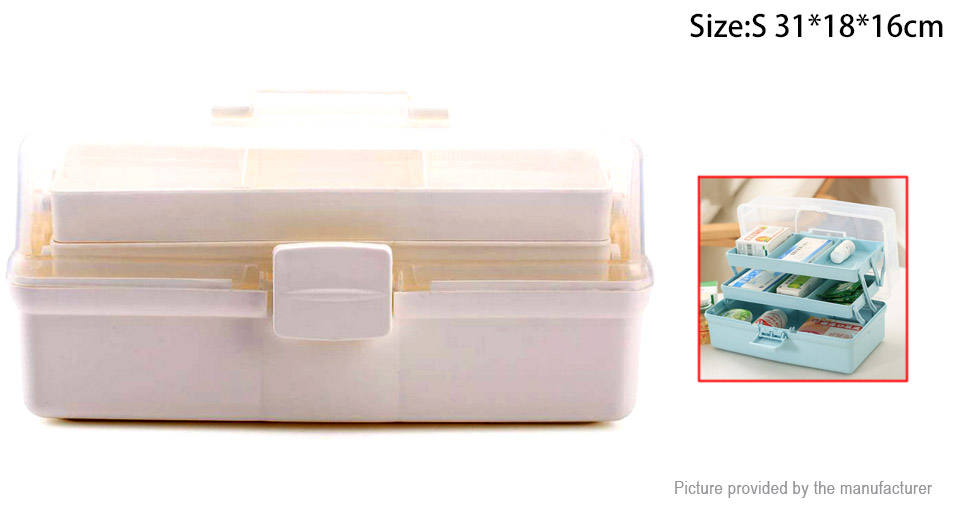 7 Slots Household Medicine Pills First Aid Storage Box Case Organizer (Size  S) ...