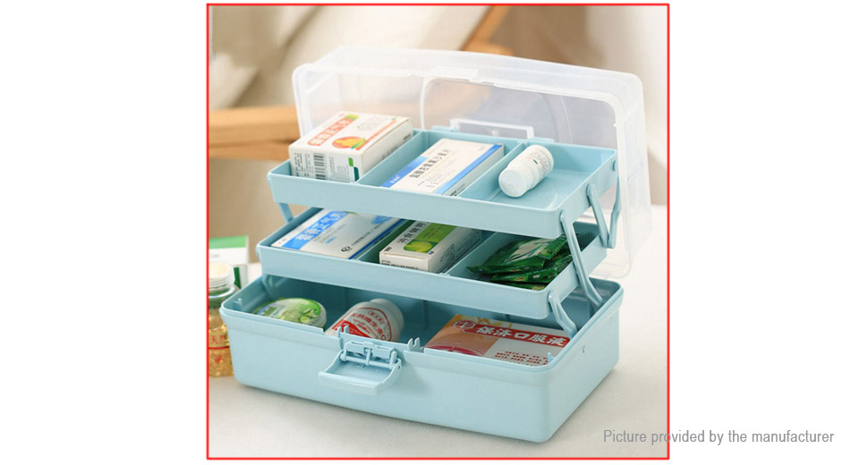 Merveilleux ... 7 Slots Household Medicine Pills First Aid Storage Box Case Organizer  (Size L) ...