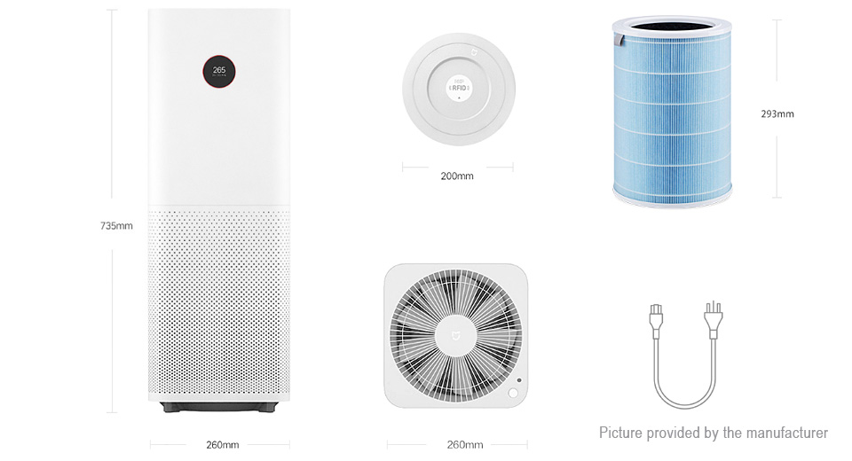 462 19 Authentic Xiaomi Mijia Air Purifier Pro Oled