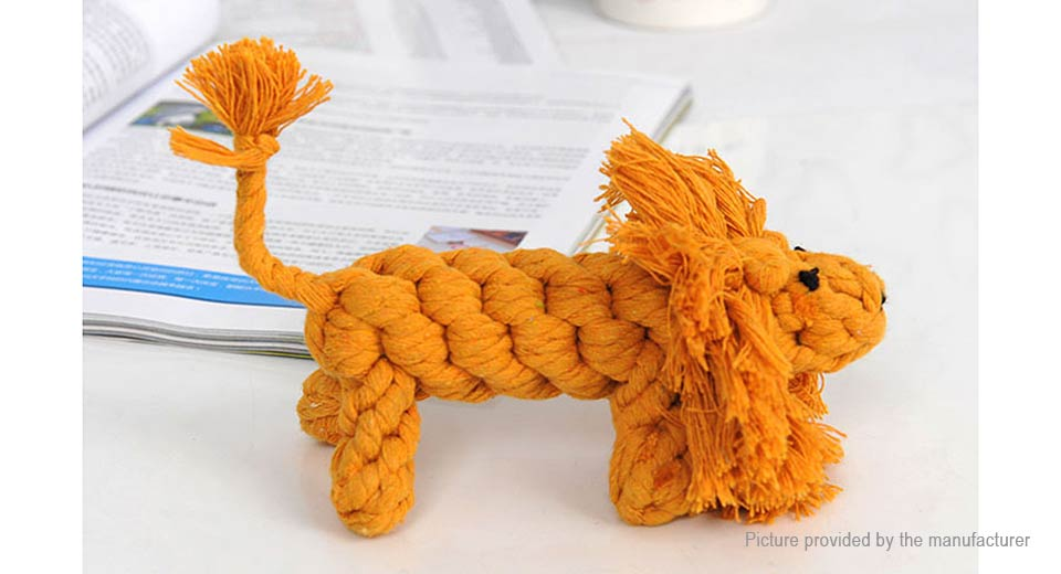Product Image: cotton-rope-knitted-lionet-pet-toy-teeth-grinding