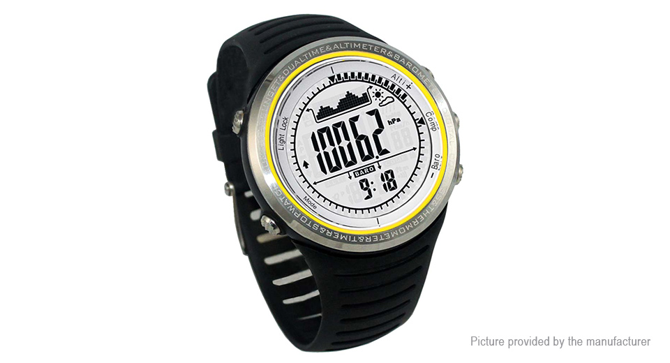 Authentic Sunroad FR802A Sports Watch Fishing Digital Barometer