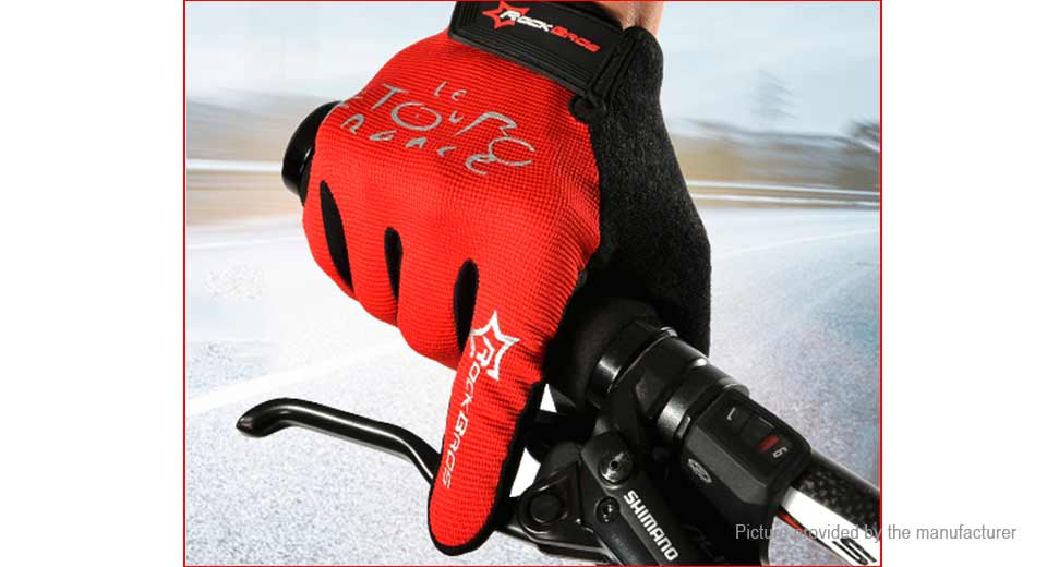ROCKBROS Unisex Anti-slip Full Finger Touch Screen Cycling Gloves (Size S)