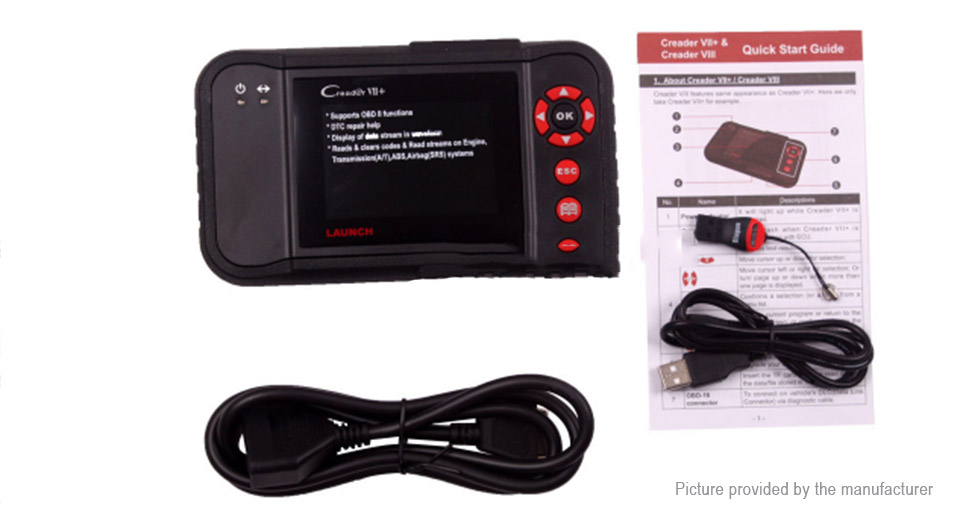 Launch Creader VII+ X431 Car Auto Code Reader OBDII EOBD Scanner Diagnostic Tool
