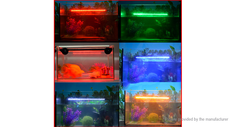 Aquarium Fish Tank Waterproof Submersible RGB LED Light