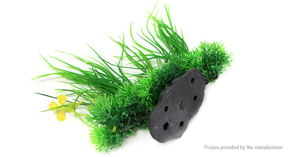 Artificial Plastic Plant Green Grass Styled Fish Tank Decor Aquarium Landscape Decoration