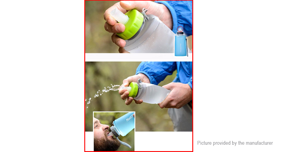 Naturehike Outdoor Folding Silicone Water Bottle Portable Drinking Bag (750ml)