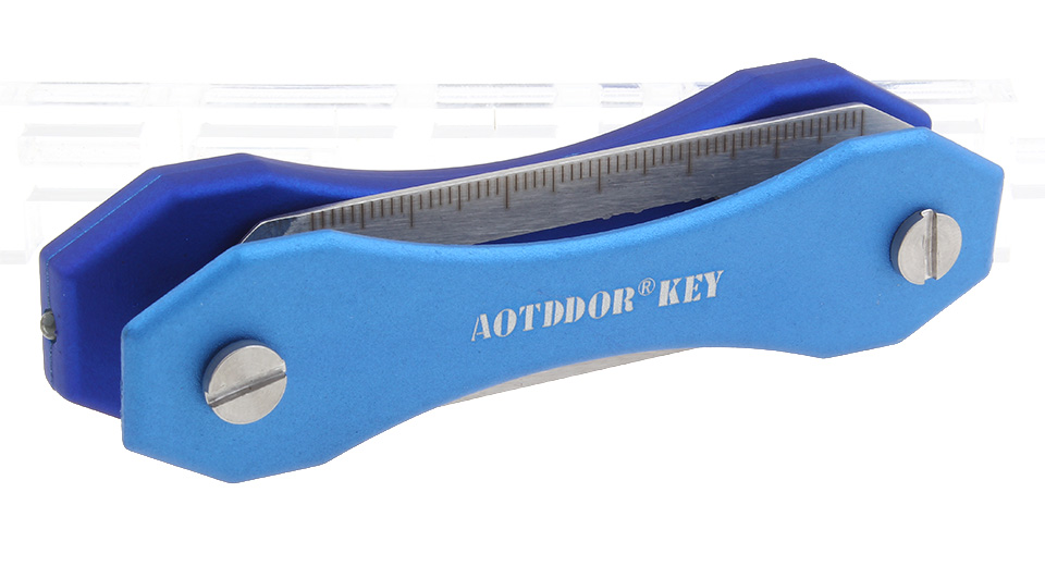 AOTDDOR Multifunctional Portable Aluminum Key Holder Clip EDC Tool