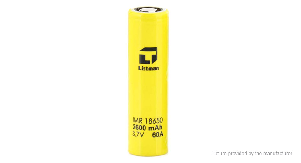 Product Image: authentic-listman-imr-18650-3-7v-2600mah