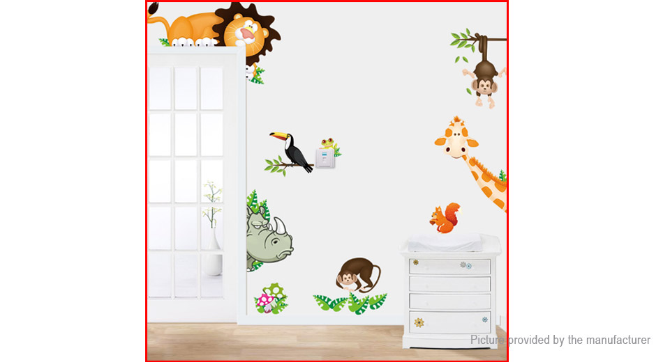 Animal Forest Styled Removable Wall Sticker Home Decor