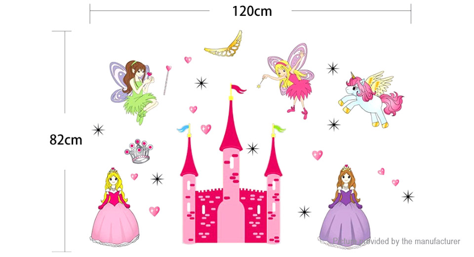 Princess Fairy Castle Styled Removable Wall Sticker Home Decor