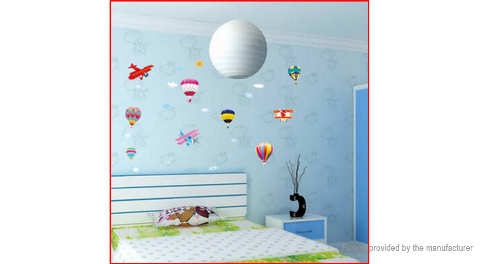 Hot Air Balloon Plane Styled Removable Wall Sticker Home Decor
