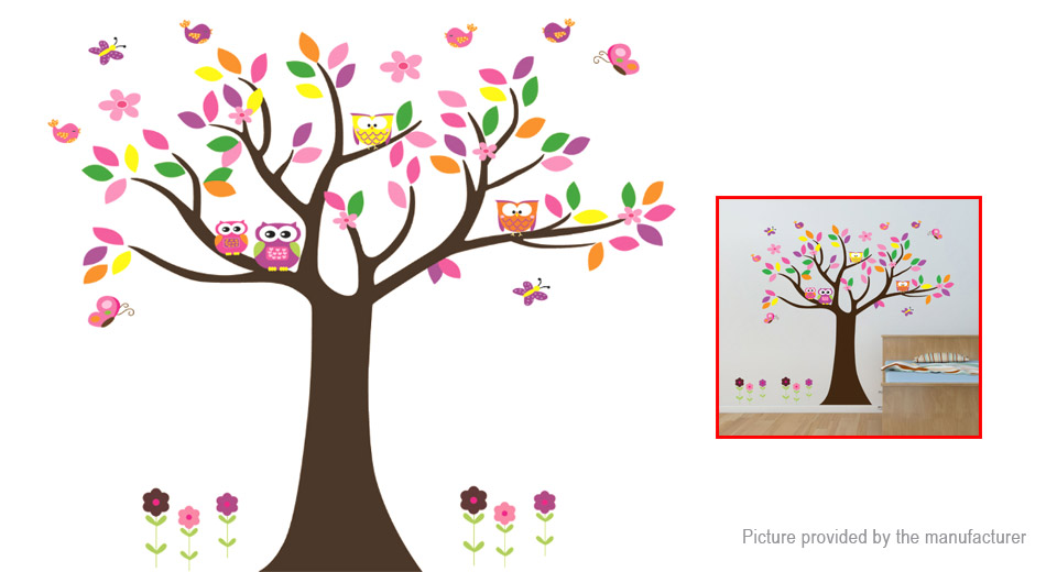 Owl Tree Styled Removable Wall Sticker Home Decor