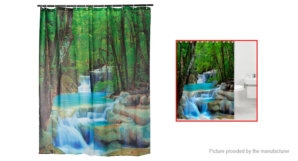 3d Peacock Feather 8 Shower Curtain Waterproof Fiber Bathroom Windows Toilet Shower Curtains
