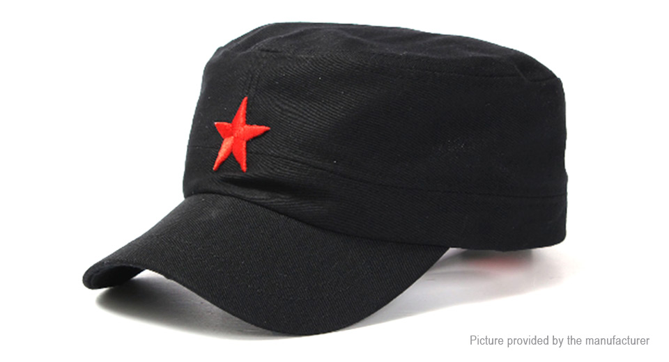 Product Image: unisex-red-star-cotton-army-cadet-military-cap