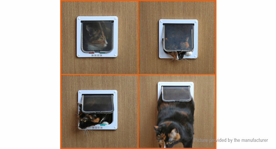 4-Way Magnetic Lockable Pet Cat Dog Safe Flap Door (Size L)