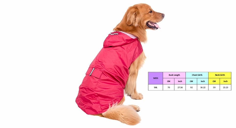Product Image: pet-dog-waterproof-hooded-slicker-raincoat-size