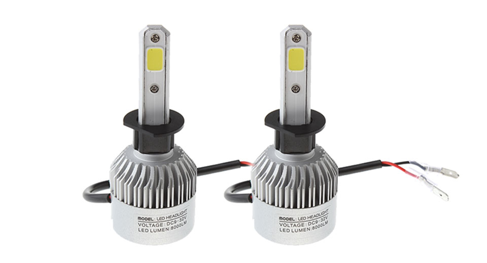 Product Image: h1-35w-3-cob-8000lm-6500k-pure-white-led-car