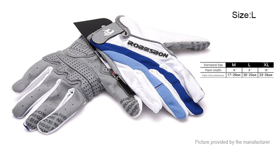 Product Image: robesbon-unisex-full-finger-cycling-gloves-size-l