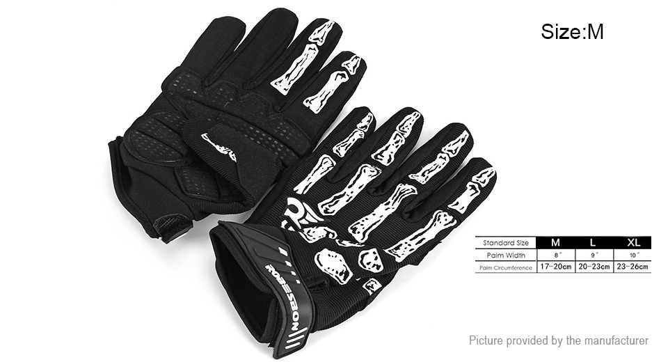 Product Image: robesbon-skeleton-bone-styled-full-finger-cycling