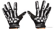 ROBESBON Skeleton Bone Styled Full Finger Cycling Gloves (Size M)