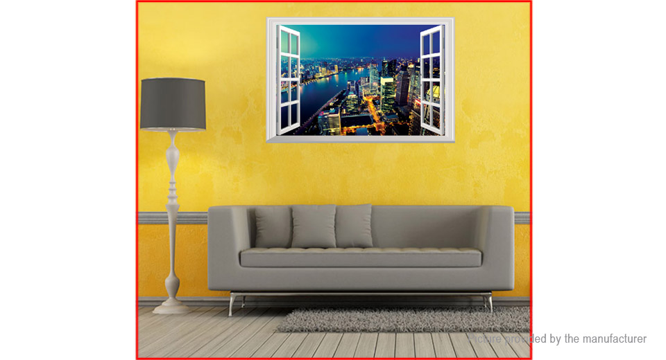 3D Night City Styled Wall Sticker Home Decor