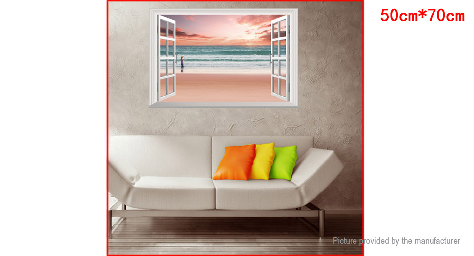 3D Beach Girl Styled Wall Sticker Home Decor