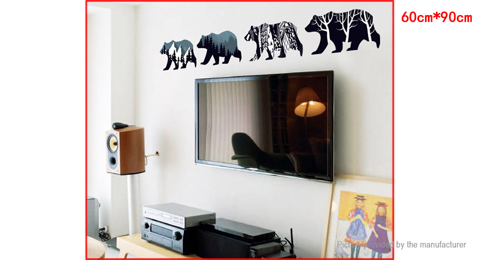 Polar Bear Styled Wall Sticker Home Decor