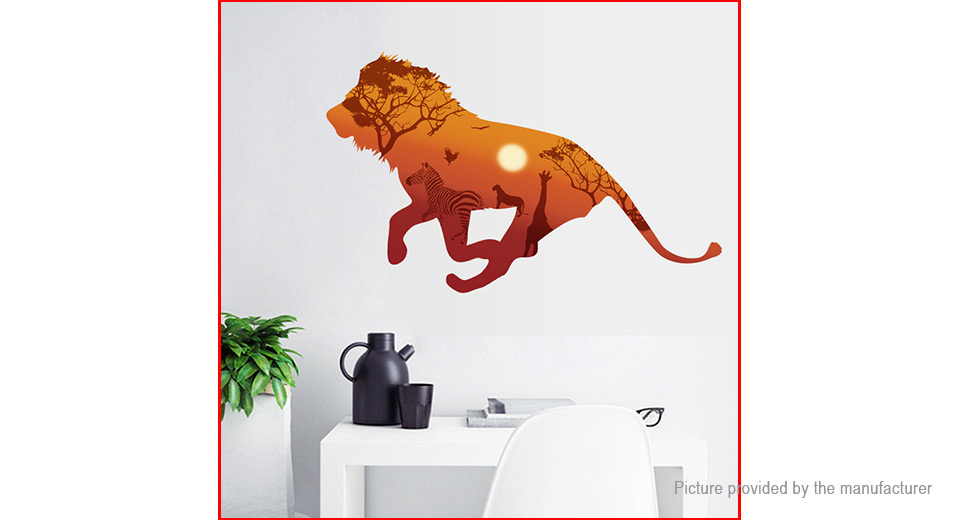 Lion Styled Wall Sticker Home Decor