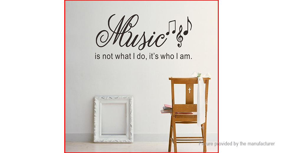 Music Letter Styled Wall Sticker Home Decor