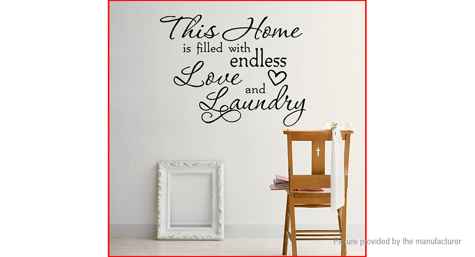 This Home Letter Styled Wall Sticker Home Decor
