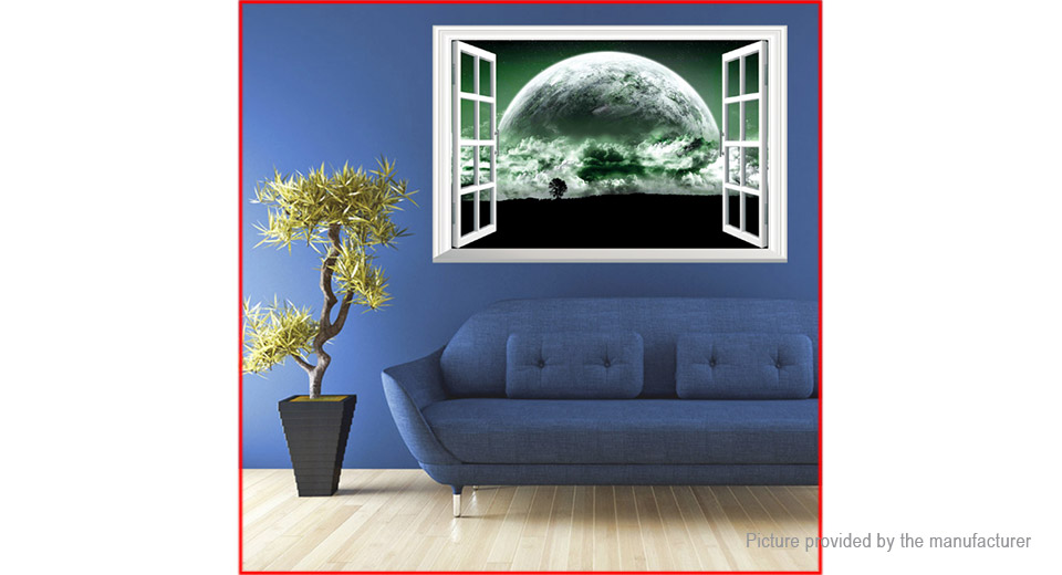 $4.44 3D Giant Planet Styled Wall Sticker Home Decor - waterproof ...