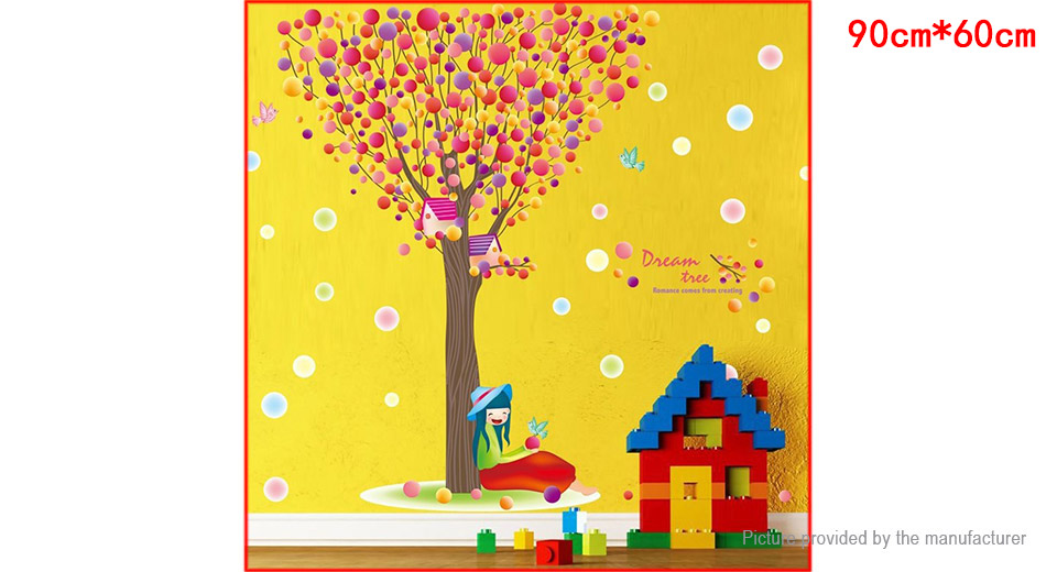 Colorful Bubble Tree Styled Wall Sticker Home Decor