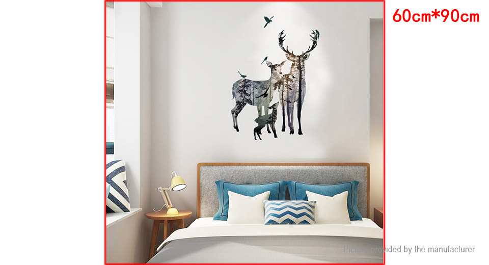 Elk Family Styled Wall Sticker Home Decor