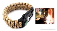 10-in-1 Outdoor Survival Emergency Paracord Bracelet