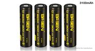 Authentic BASEN IMR18650 3.7V 3100mAh Rechargeable Li-ion Batteries (4-Pack)