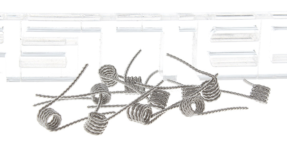 $1.66 316L Stainless Steel Fused Clapton Prebulit Coil Wire (10-Pack ...