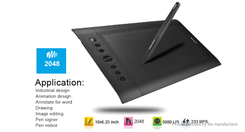 Huion H610 Pro Professional Art Drawing Graphic Pad Pen Kit