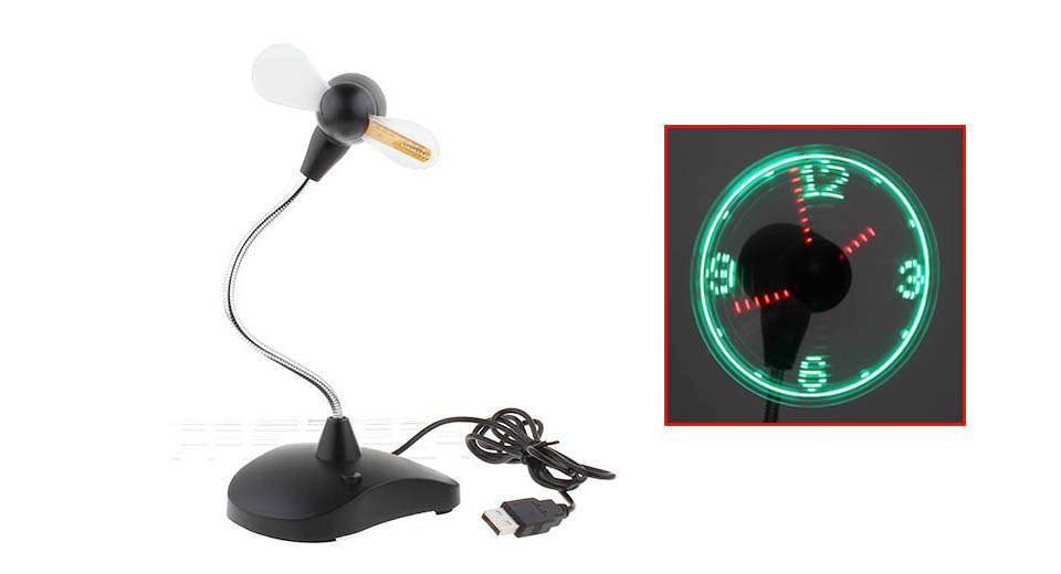 Product Image: clip-on-clock-flexible-mini-usb-fan-for-laptop