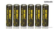 Authentic Basen IMR 18650 3.7V 3200mAh Rechargeable Li-ion Battery (6-Pack)