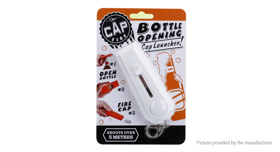 creative flying cap beer bottle opener cap launcher w key ring at fasttech worldwide. Black Bedroom Furniture Sets. Home Design Ideas