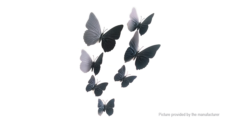 3D Butterfly Styled Wall Sticker Home Decor (12 Pieces)