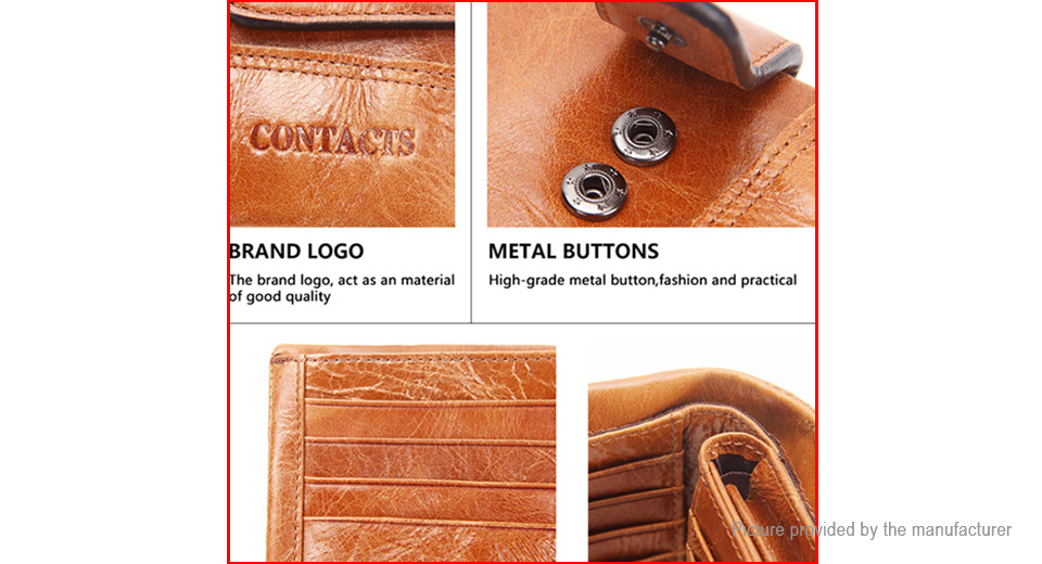 CONTACT'S Men Wallet Classical Leather Coin Bag
