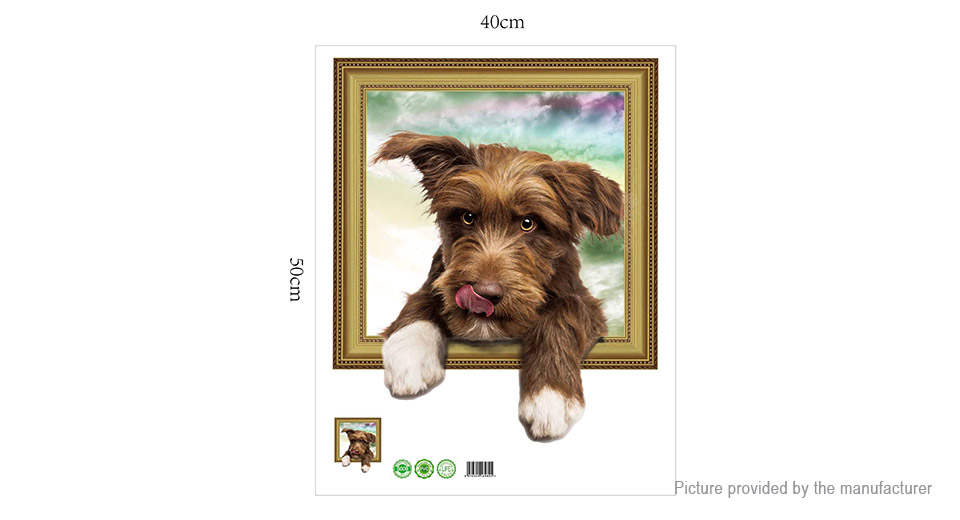 3D Pet Dog Styled Wall Sticker Home Decor