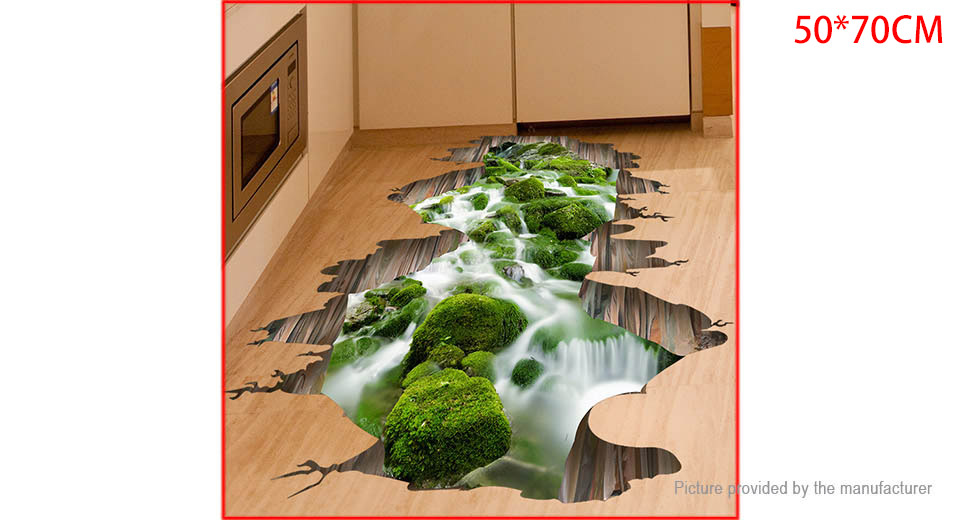 3D Stream Styled Wall Sticker Home Decor