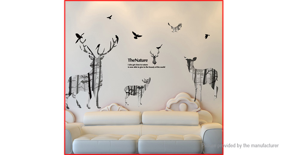 The Nature Deer Styled Wall Sticker Home Decor