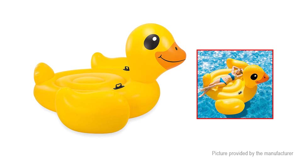 Duck Styled Inflatable Floating Bed Swimming Pool Water Lounge Air Mattress  Raft ...