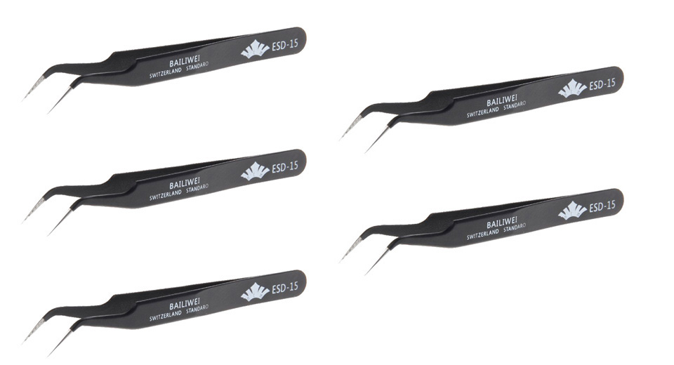 Product Image: bailiwei-stainless-steel-tweezers-for-e