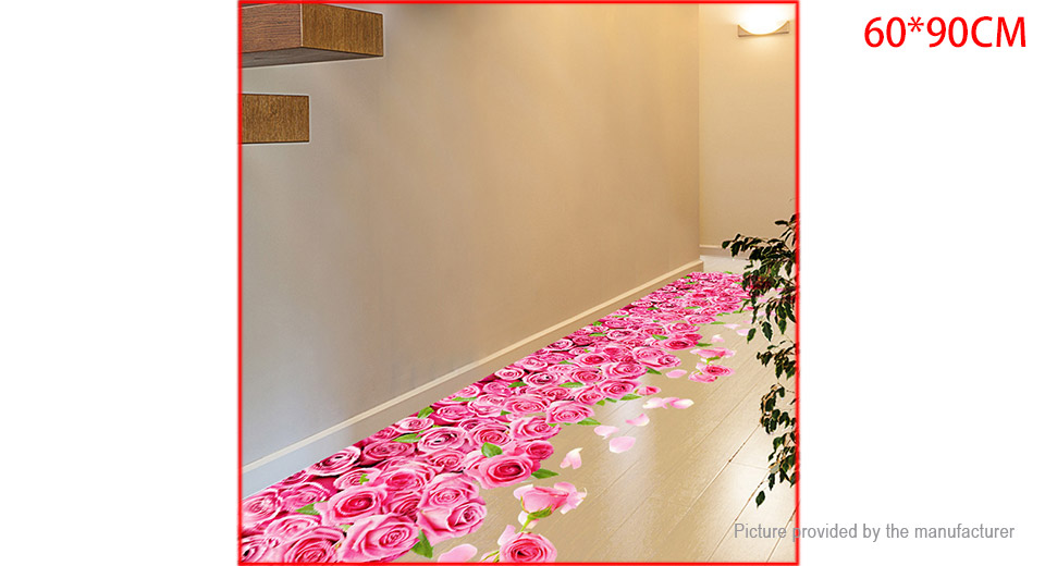 3D Rose Flower Styled Wall Sticker Home Decor