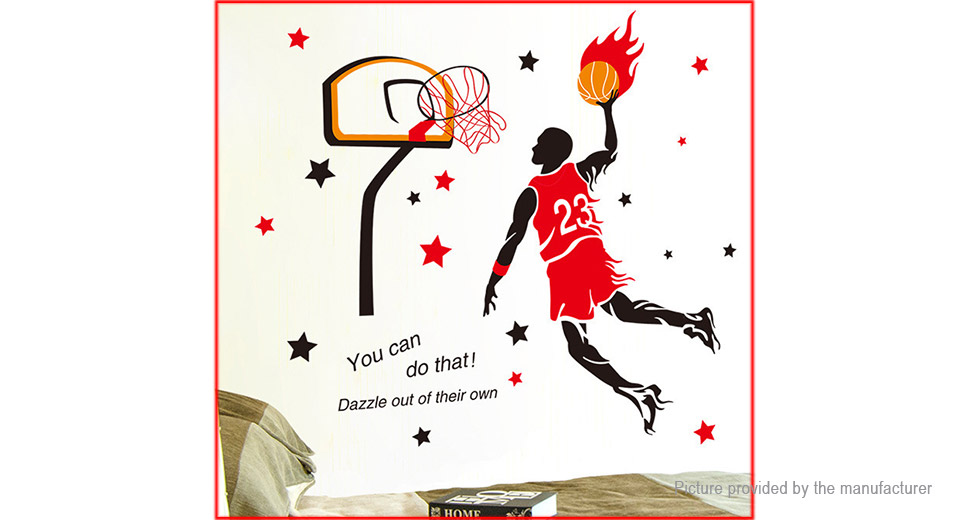 Dunk Player Sports Styled Wall Sticker Home Decor