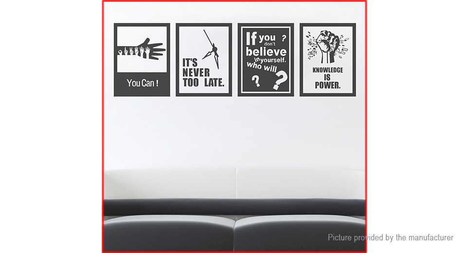 Encourage Quote Print Styled Wall Sticker Home Decor